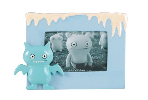 (Uglydoll 4-Inch by 6-Inch Ice-Bat Snowcap Ceramic Frame, Light Blue)