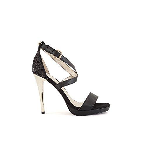 Sandale E0VRBS11 Femme Black Jeans Versace H8qWvw7qT