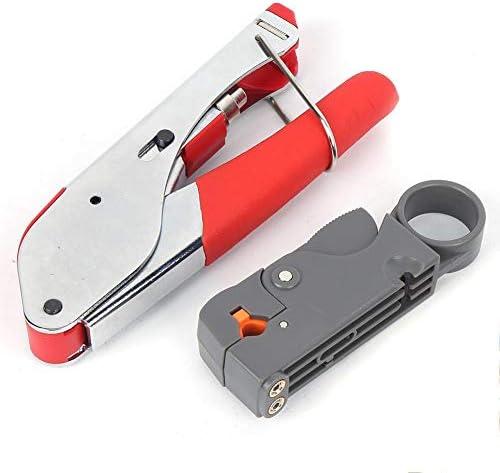 22ピースFヘッドケーブル圧着工具 多機能圧着工具ワイヤーストリッパーセット(22 piece set)