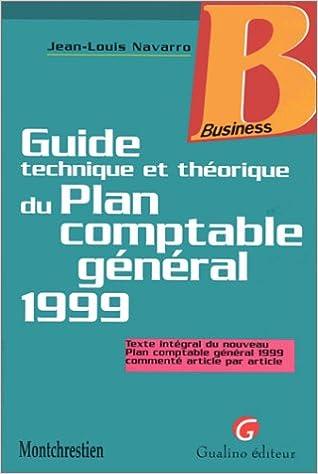 En ligne Guide technique et théorique du plan comptable général, 1999 epub, pdf