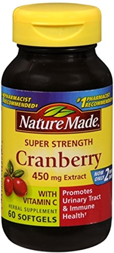 Nature Made Super Strength Cranberry Herbal Supplement 450 mg Extract Softgels 60 Soft Gels (Pack of 5) by Nature Made