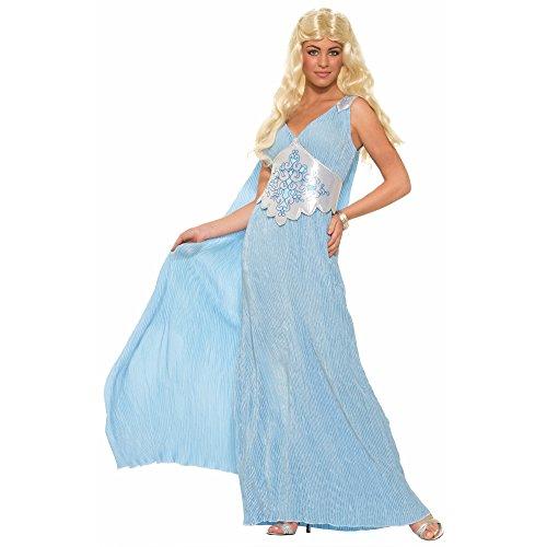 Egyptian Queen Plus Adult Costumes (Forum Novelties Women's Elegant Queen Costume, Blue, One Size)