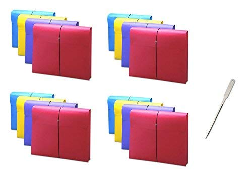 Smead 77291 2'' Exp Antimicrobial File Wallet, Letter, Four Colors, Sold as 4 Pack, 16 Count Total