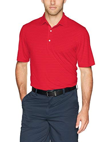 Greg Norman Men's Ml75 Tonal Stripe Polo Golf Shirt British Red Medium [並行輸入品]   B07QL5XVYN