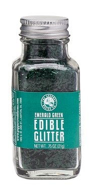 Pepper Creek Farms Edible Glitter, Green, Emerald, 0.75 ()