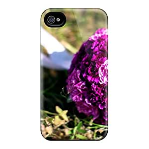 Excellent Design Roses On The Grass Case Cover For Iphone 4/4s