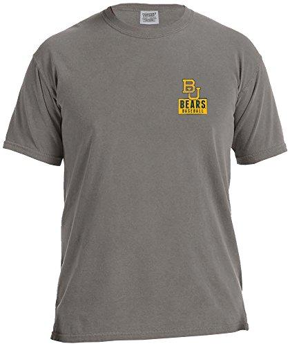 NCAA Baylor Bears Vintage Baseball Flag Comfort Color Short Sleeve T-Shirt, Large,Grey