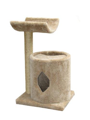 "Molly and Friends ""Cradle Condo"" Premium Handmade 2-Tier Cat Tree with Sisal, Model 36, Beige, My Pet Supplies"