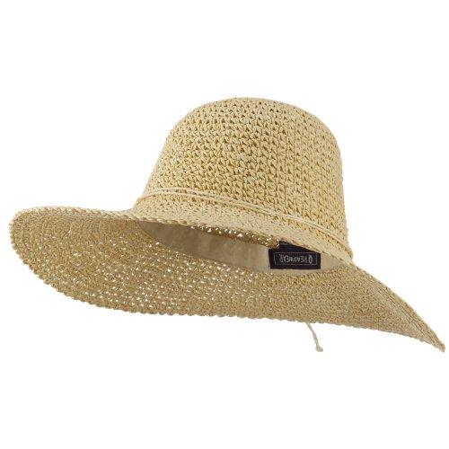 Q Headwear Ladies Hand Crocheted Hats-Khaki