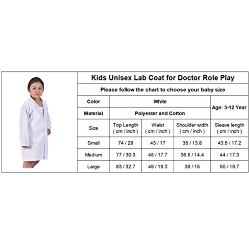 CalorMixs America Kids Unisex Doctor Lab Coat Doctor Role Play Costume Dress-Up (Small) by CalorMixs (Image #1)