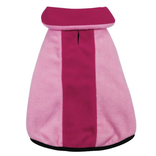 Zack and Zoey Polyester Fleece Large Dog Jacket, Pink, My Pet Supplies