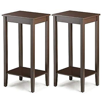 Amazon Com Yaheetech Tall Wood End Table Sofa Side Coffee Table