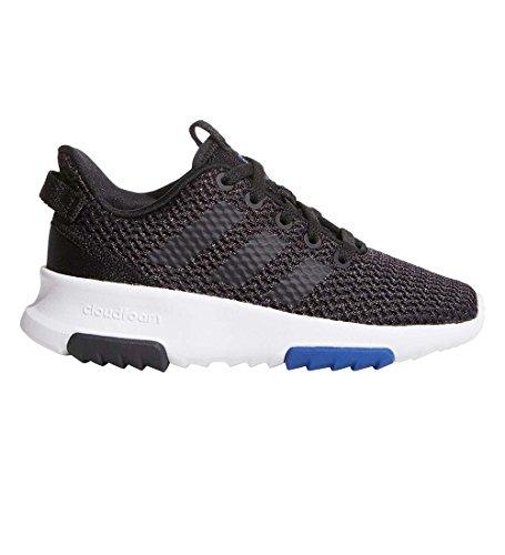 adidas Kids CF Racer TR Running Shoe, Utility Black/Black/Running White/Collegiate Royal, 3 M US Big Kid