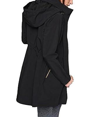 Blooming Jelly Women's Zip Lightweight Loose Hooded Waterproof Active Outdoor Rain Jacket