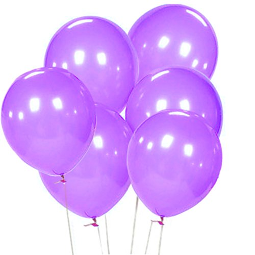 50 Pieces 12 inch Purple Latex Balloon, Pastel Assortment Balloon for Birthday Wedding D?cor