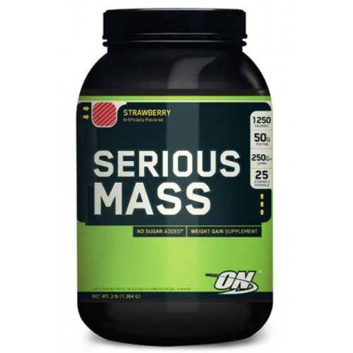 OPTIMUM NUTRITION Serious Mass Gainer Protein Powder, Strawberry, 3 Pound
