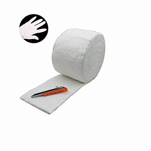 HM&FC 0.4(Inch)x 7(Inch)x 22(Feet) Ceramic Fiber Insulation Blanket 2300F