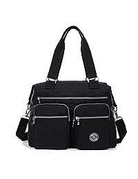 b02caf413b56 Outreo Women Handbag Travel Messenger Bag Waterproof Shoulder Bag for Sport  Girls Satchel Cross Body Side
