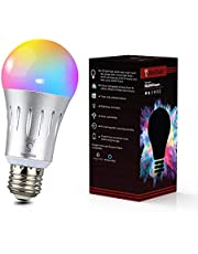 SmartChoice E27 WiFi LED 6000k + RGBW, 9w Multi Colour Changeable Smart Light Bulb, Works with Smart Phones, Alexa and Google Compatible