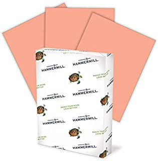 product image for Hammermill Colored Paper, 24 lb Salmon Printer Paper, 8.5 x 11-1 Ream (500 Sheets) - Made in the USA, Pastel Paper