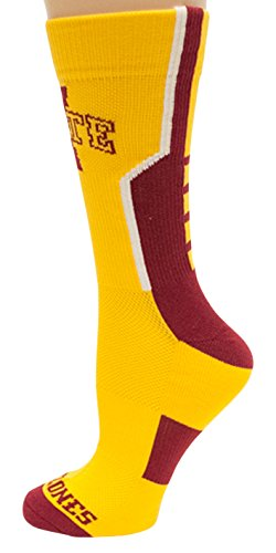 Donegal Bay NCAA Iowa State Cyclones Unisex Iowa State White Sport Sockiowa State White Sport Sock, Red, One Size by Donegal Bay