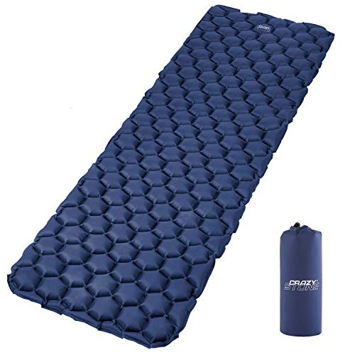 CRAZYSTONE Inflatable Sleeping Mat Ultralight Camping Air Mattress Pad and...