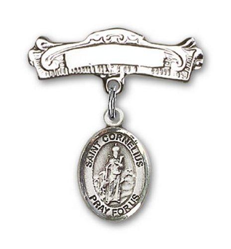 Icecarats Créatrice De Bijoux En Argent Sterling St. Charme Cornelius Broches Badge Arc 7/8 X 7/8