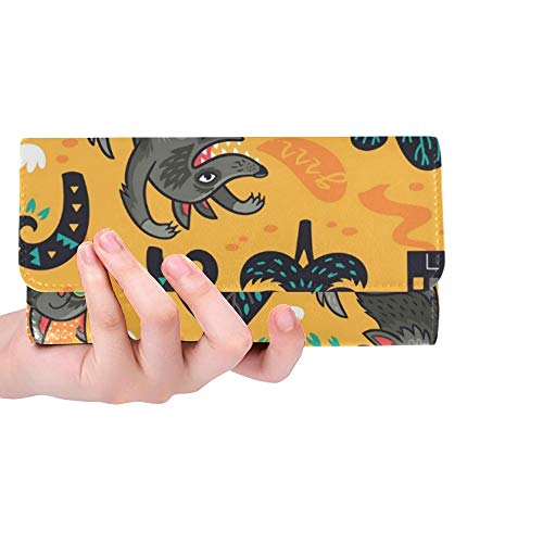 Unique Custom Little Red Riding Hood Women Trifold Wallet Long Purse Credit Card Holder Case Handbag]()