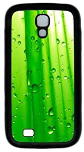 Abstract Green Water Droplets Custom Designer Samsung Galaxy S4 Case and Cover - TPU - Black