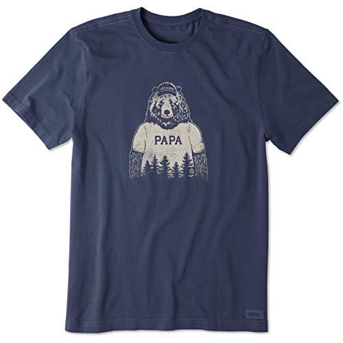 Life is Good Men's Crusher tee Papa Bear, Darkest Blue, 3X-Large