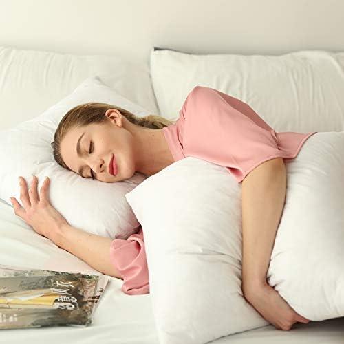Dream High Premium Goose Down Feather Throw Pillow Inserts(Set of two)-100% Cotton Cover, Square,Luxury Soft Plush,Premium Stuffer Down,Machine Wash,Cushion (22x22)
