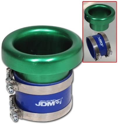 3 INLET JDM GREEN PERFORMANCE TURBO VELOCITY STACK COLD AIR INTAKE ACCORD CIVIC
