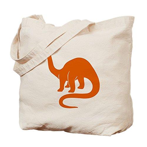 CafePress brontosaurio–tamaño–Gamuza de bolsa de lona bolsa, bolsa de la compra Small caqui