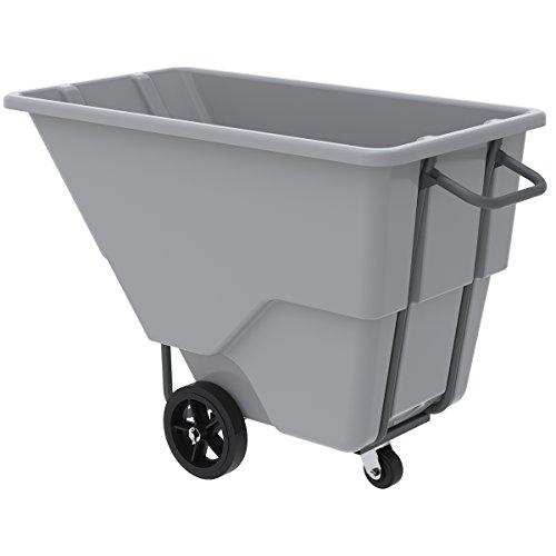 Akro-Mils 77505 100 Gallon, 0.5 Cubic Yard, 1000 lb. Capacity Heavy Duty Plastic Tilt Truck, Grey, 27-Inch W by 54-Inch L by 36-Inch H (Trucks Tilt Plastic)