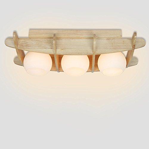 Luz de techo de madera maciza sala de estar led Simple moderno dormitorio estudio restaurante Jiugong celosía