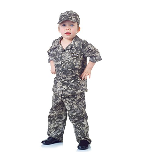 Underwraps Toddler Boy's Toddler Army Camo Set - Large, 2-4T Childrens Costume, Multi, Large ()