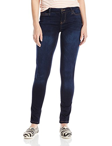 (Celebrity Pink Jeans Women's Soft Mid Rise Skinny Jean, Queen Super Dark, 9)