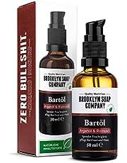 Baardolie (50 ml), Broollyn Soap Compony, baardolie voor de dagelijkse baardverzorging van 3 dagen baard of volle baard, baardolie als cadeau voor mannen en op reis ✓