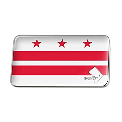 New Washington D.C. DC Home State Flag Rectangle Lapel Pin Tie Tack free shipping