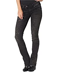Silver Jeans Co. Women's Tuesday Bootcut Jeans (26W 33L, Black Wash)