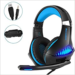 Amazon com: Gaming Headset,OfficeLead Stereo Headphones for