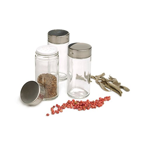 RSVP Clear Glass Spice Bottle, 1 Individual Bottle