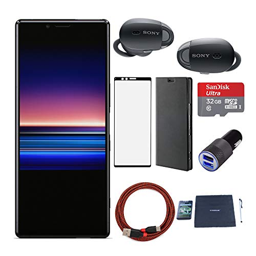 Sony Xperia 1 (Black) with Sony WF1000 True Wireless Noise Cancelling Headphones...
