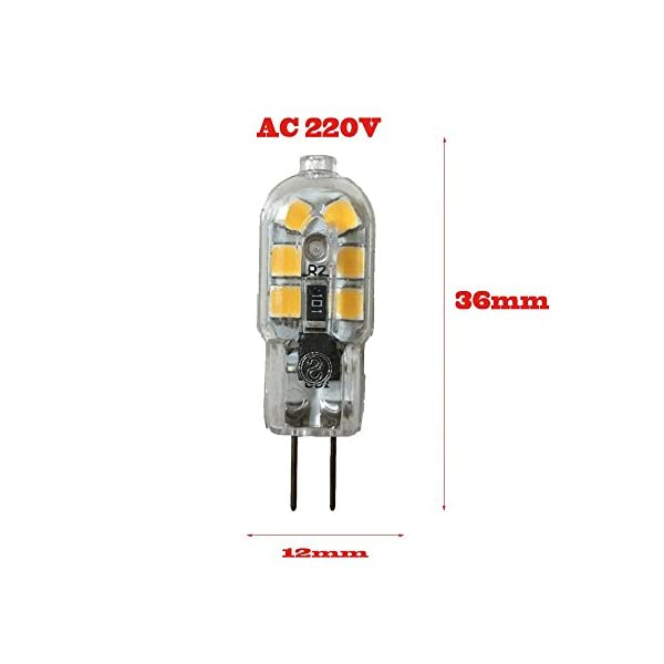Wulun, lampadine a LED G4, 2 W, CA 220 V-240 V, lampade a LED con luce bianca calda, 3.000 K, lampada alogena… 2 spesavip