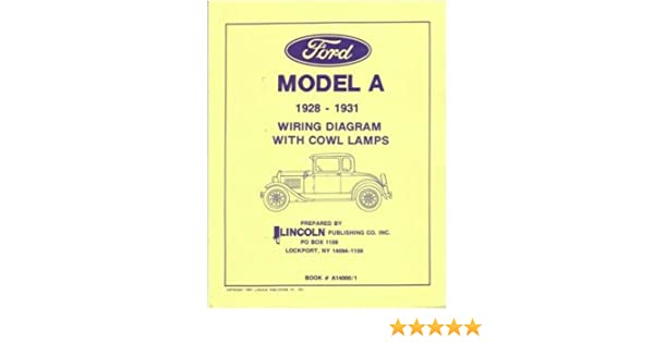 amazon com 1928 1929 1930 1931 ford model a wiring diagrams automotive rh amazon com
