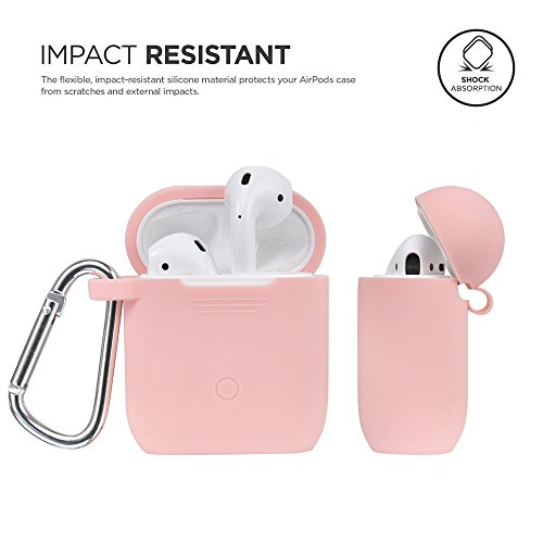 Airpods Accessories Set, Filoto Airpods Silicone Case Cover with Keychain/Strap/Earhooks/Waterproof Accessories Storage Travel Box for Apple Airpod (Pink) by Filoto (Image #2)
