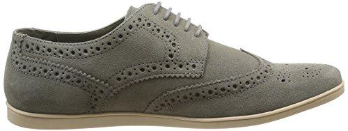 Base London Shore - Zapatos de Cordones de cuero hombre Grey (Suede Grey)