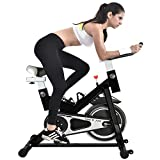 Cheap YING R JIAN Exercise Bike Indoor Cycling Bike Stationary Bike Trainer Belt Driven with Flywheel