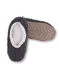 Pembrook - Zapatillas de Punto para Mujer, Estilo Ballet con Suela Antideslizante - Zapatillas de Peluche para Adultos, Mujeres, niñas
