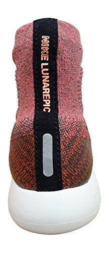 Nike Womens Lunarepic Flyknit Running Trainers 818677 Sneakers Shoes (9, dark mushroom hot punch 200)
